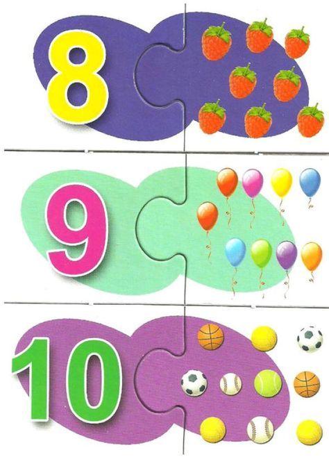 puzzle_numeros (3)   LÓGICO-MATEMÁTICAS   Pinterest   Hojas de ...