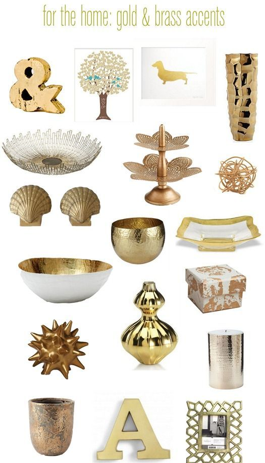 Touches of Brass & Gold | Modern house design, Decorating and Room ...