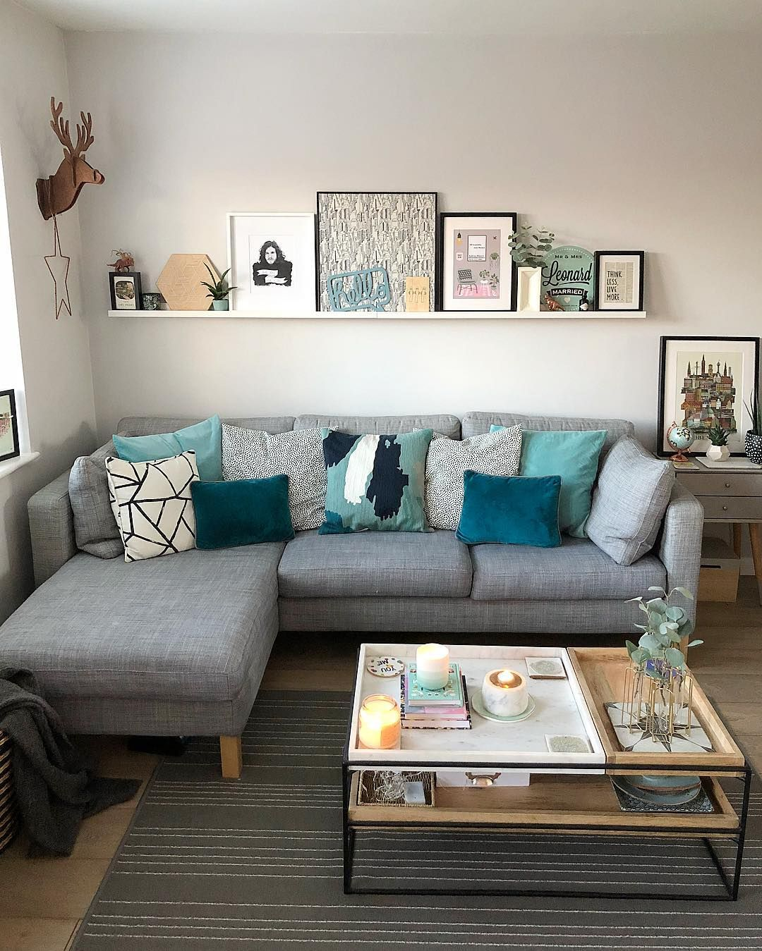 Living Room Decor For Small Apartments Ideas Coffee Table Decor
