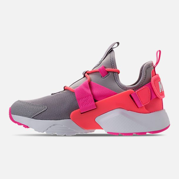premium selection 2455c e98cd Left view of Women s Nike Air Huarache City Low Casual Shoes in Atmosphere  Grey Hot Punch White