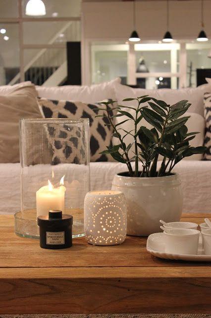 La recette du salon cosy photophore bougie parfum e for Plante verte decorative