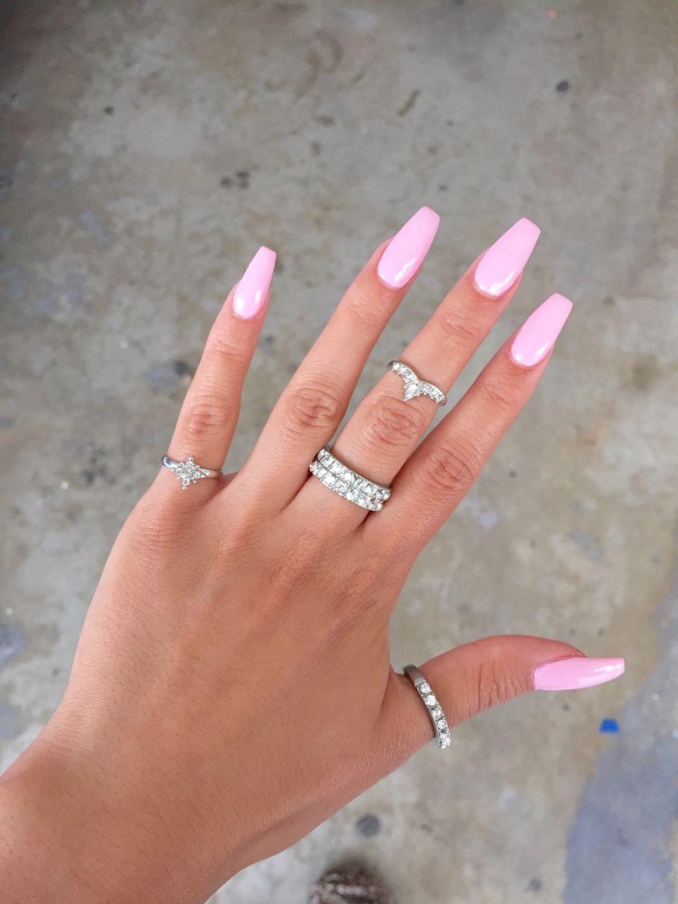 Acrylic Nails Tumblr Pink Acrylic Nails Summer Acrylic Nails Acrylic Nails