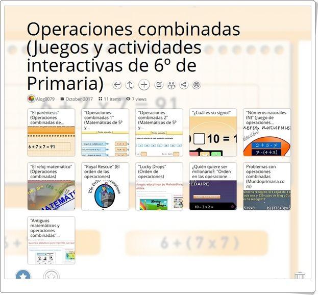 Operaciones Combinadas 11 Juegos Y Actividades Interactivas Para La Práctica En 6º De Pr Actividades Interactivas Juegos De Matemáticas Juegos De Probabilidad