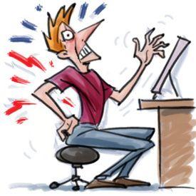 Ergodirect Poor Posture Sitting Working With The Computer Pony Saddle Ergonomic Stool Freedom