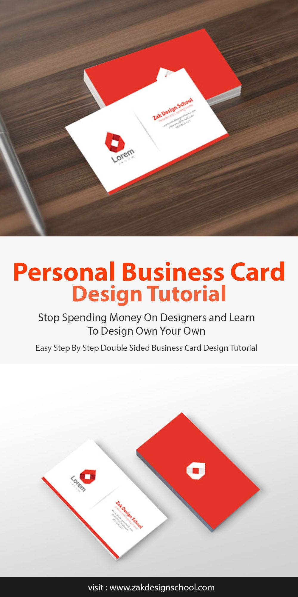 How To Design a Professional Looking Personal Business Card Design ...