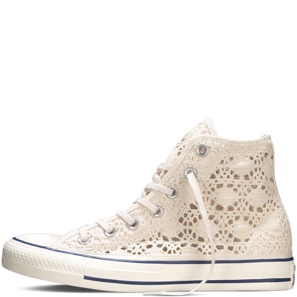 Chuck Taylor All Star Crochet Parchment/Egret/Navy