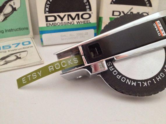 Dymo 1570 Label Maker Vintage Metal Labeler With Embossing Etsy Vintage Metal Label Maker Vintage