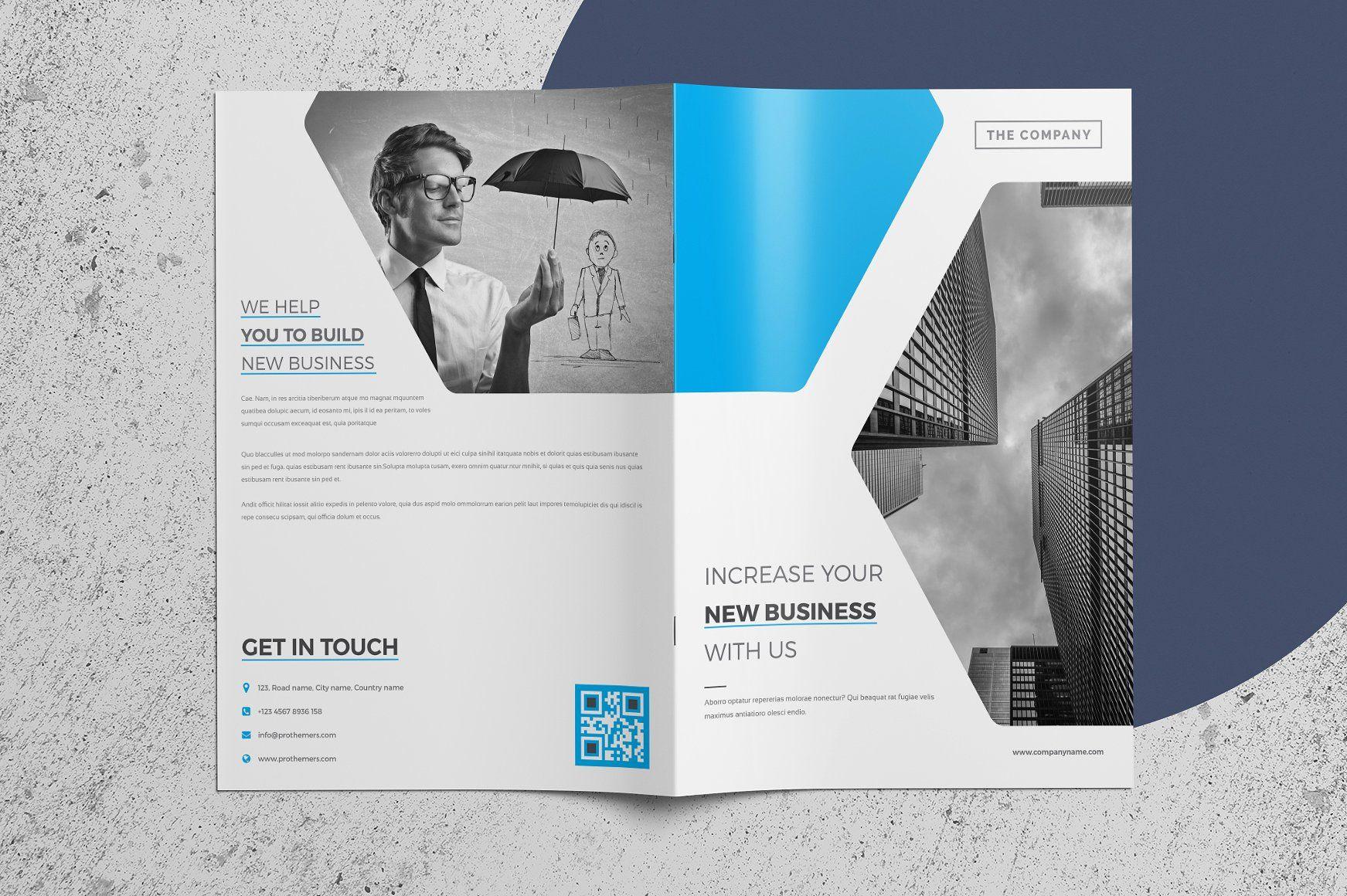 Corporate Company Brochure 4 Page By Nashoaib On Creativemarket Brochure Design Inspiration Templates Brochure Design Template Brochure Print