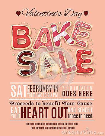 Valentines Day Bake Sale Flyer Template Ac Bake Sale Bake Sale