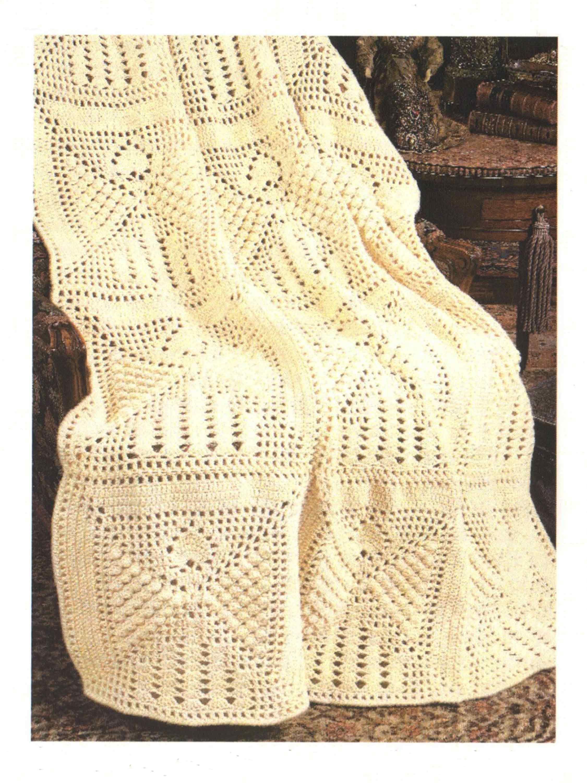 Angel Popcorn Square Afghan Pattern | Crochet | Pinterest | Afghan