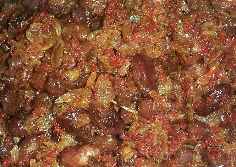 Resep Kacang Merah Balado Oleh Michico Octavian Resep Kacang Merah Kacang Makanan