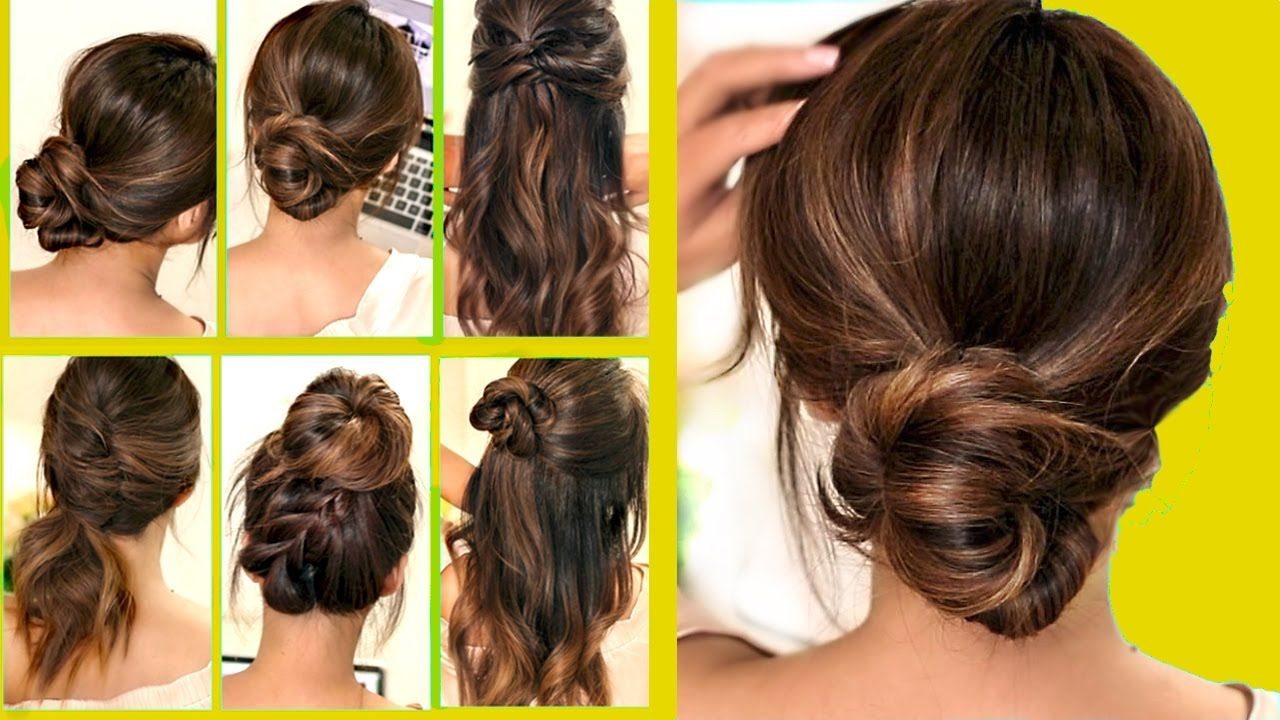 Top 10 Lazy Running Late Hairstyles Hacks For Frizzy Hair Easy Updos Braids Bun Beauty Styles Running Late Hairstyles Easy Hairstyles Hair Hacks