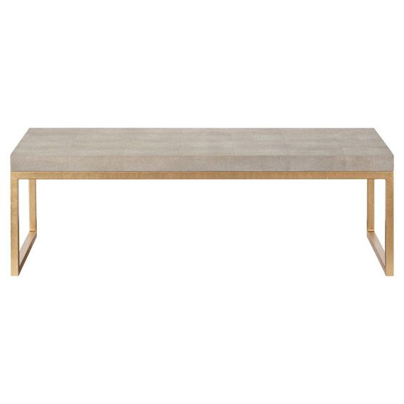 Lantau Faux Shagreen Gold Coffee Table Greys online Furniture