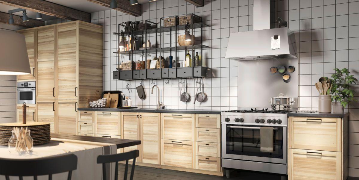cocinas cocina ikea ideas de cocina puertas de madera madera maciza folleto lleno de cajones