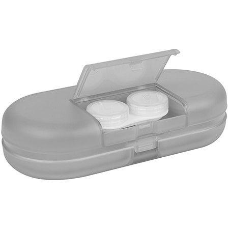 Merry Christmas Circle Cartoon Portrait Glasses Case Eyeglasses Clam Shell Holder Storage Box