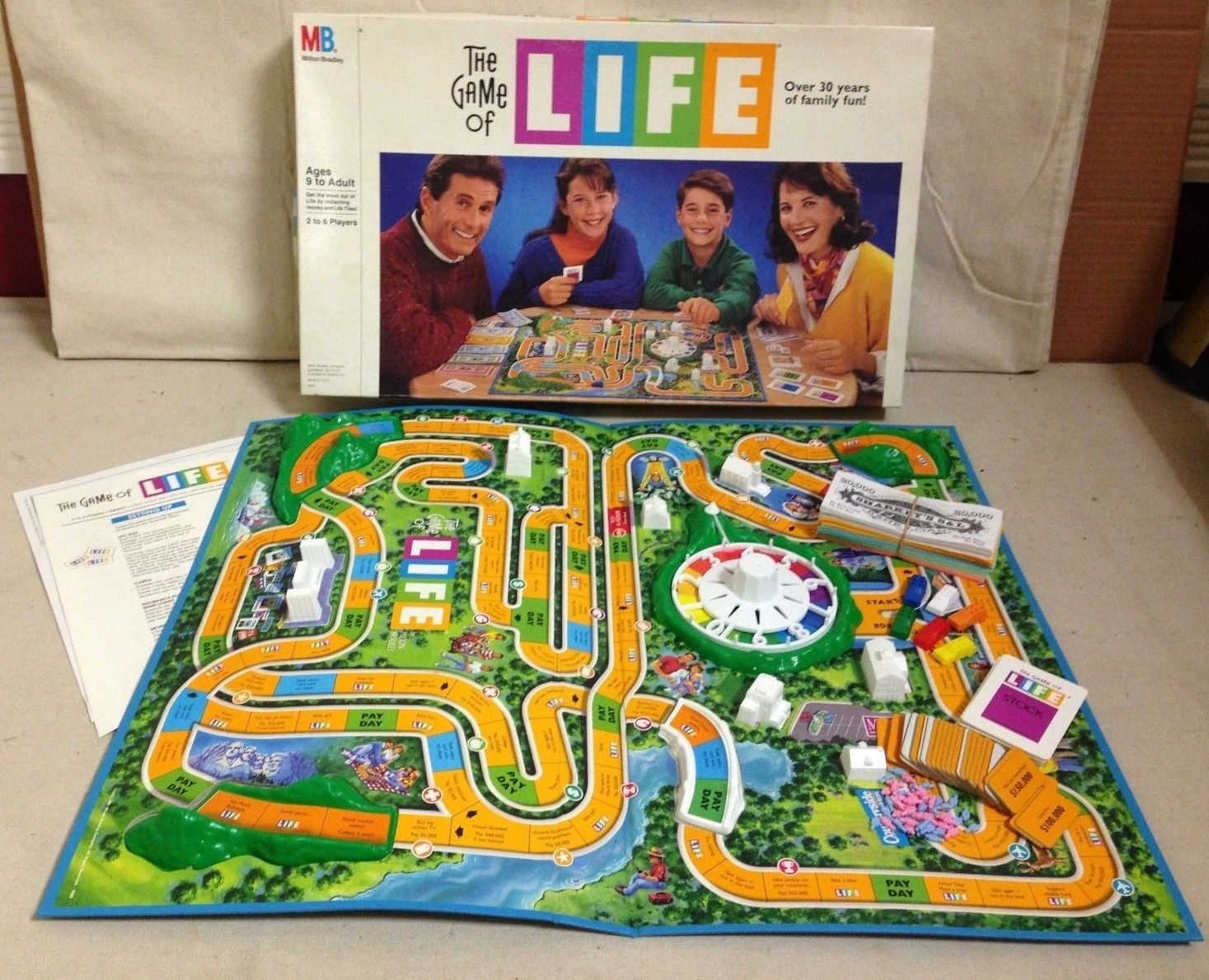 """Milton Bradley 1991 Version """"The Game of Life"""" Board Game"""