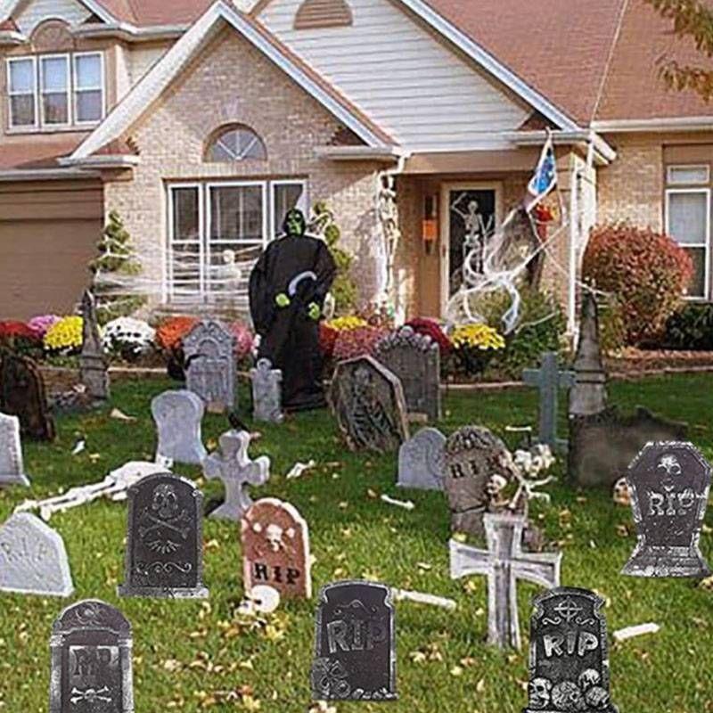 1PC Halloween Prop Tombstones Graveyard Haunted House Dead Human - giant spider halloween decoration
