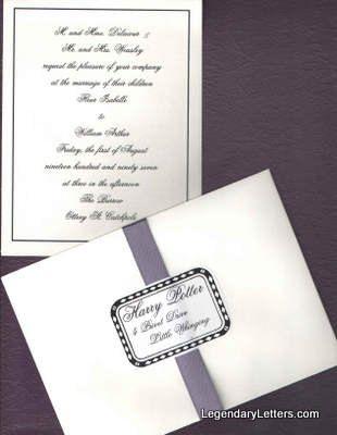 Harry Potter Bill Weasley & Fleur Delacour Wedding Invitation