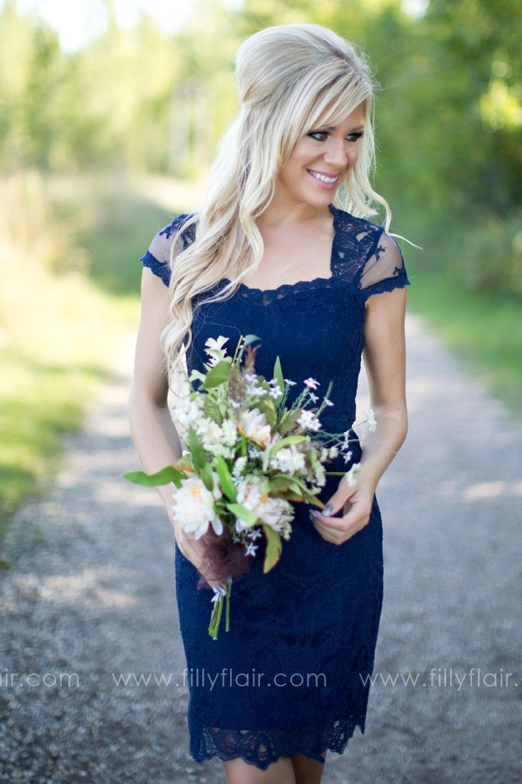 Sparks fly bridesmaid dress in midnight blue wedding ideas