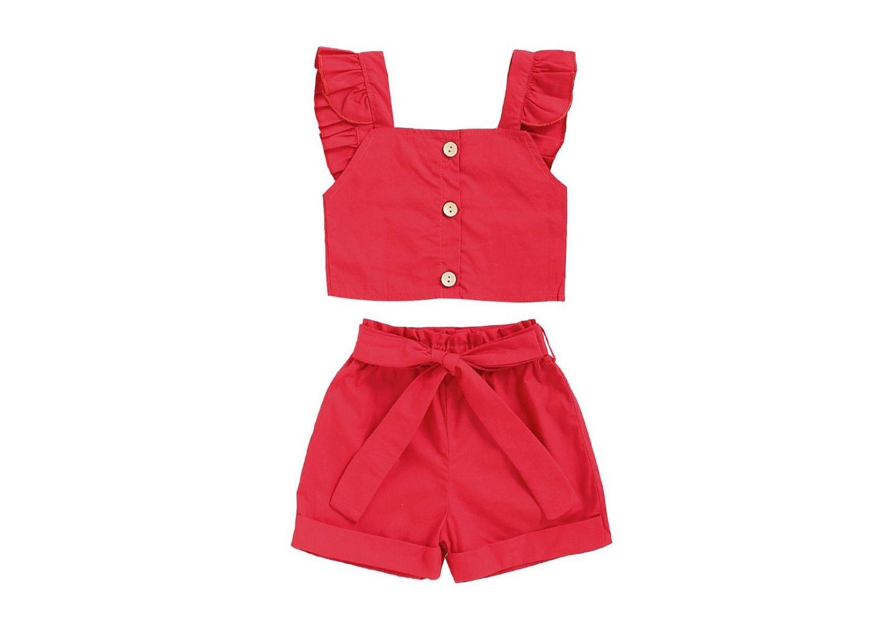 Infant Baby Toddler Girl Summer Clothes 3pc Off Shoudler Flower T-Shirt Denim Shorts Headband Kehen
