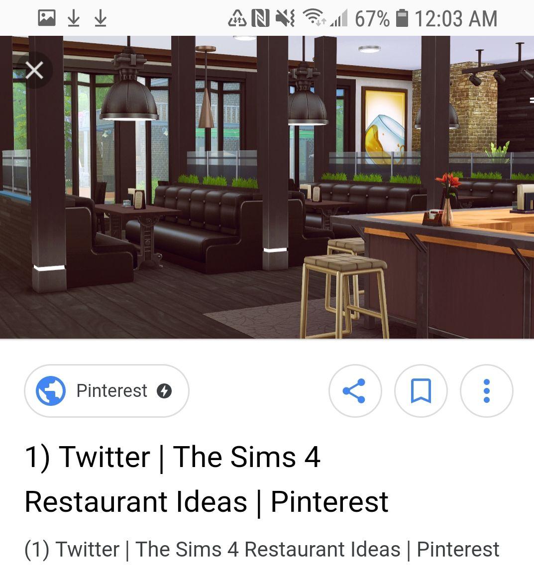 Sims 4 Restaurant Interior Idea Sims 4 Restaurant Sims Building