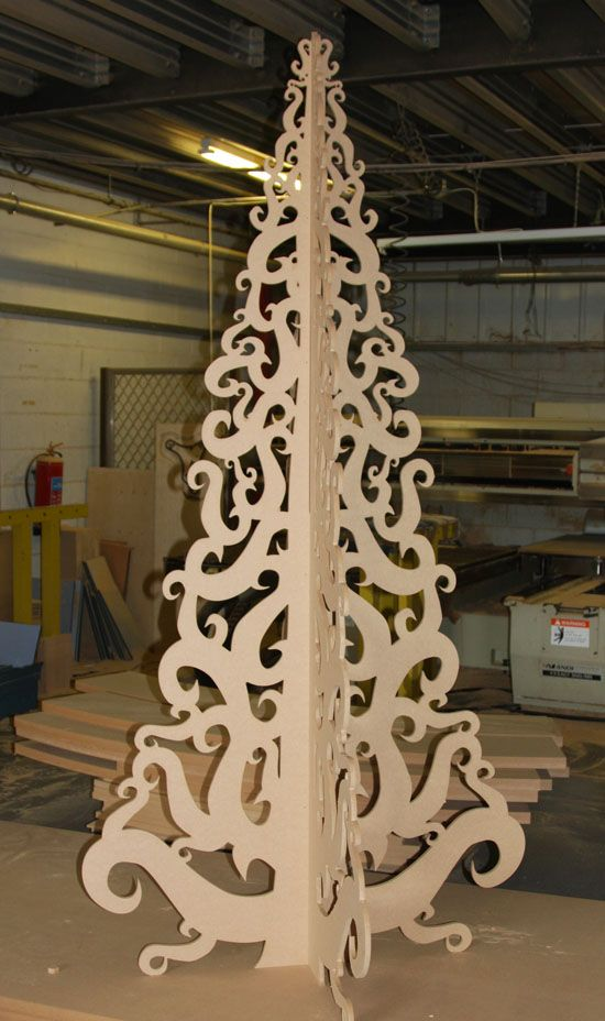 MDF Christmas tree Large Scale Winter Decorations Pinterest