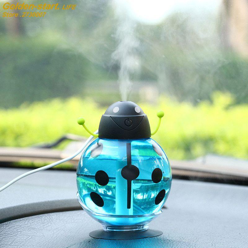 Beatles Mini LED USB Ultrasonic Humidifier Moist Air Diffusers Mist Night Light
