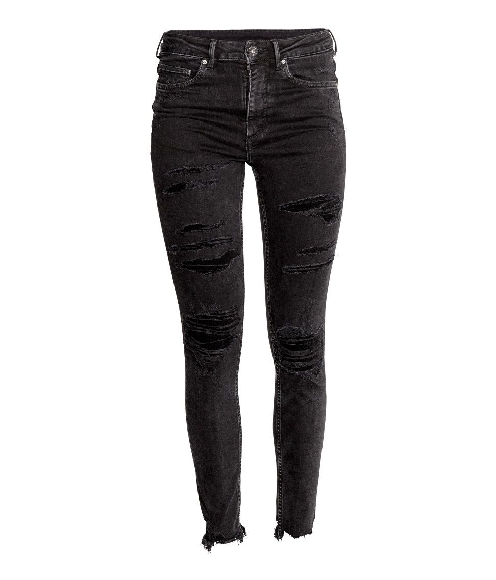 Check this out 5pocket anklelength jeans in washed