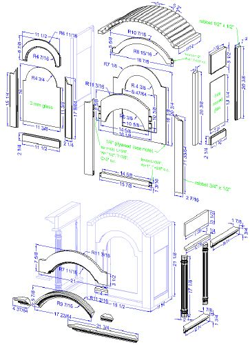 Woodwork Construction Plan Square and Diamond Wall Clocks