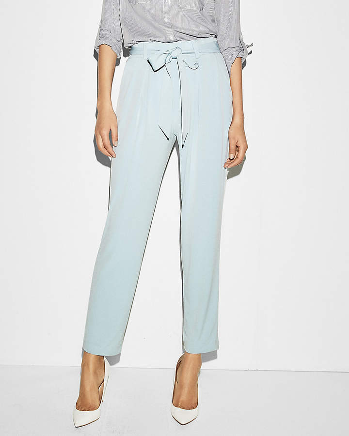 bef46a41e9 Express Mid Rise Jersey Sash Pant   Madison & Meghan   Paperbag ...
