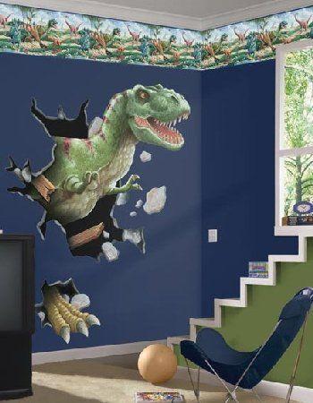 Wall Decal Theme Bedrooms For Boys  Dinosaur theme room, Dinosaur