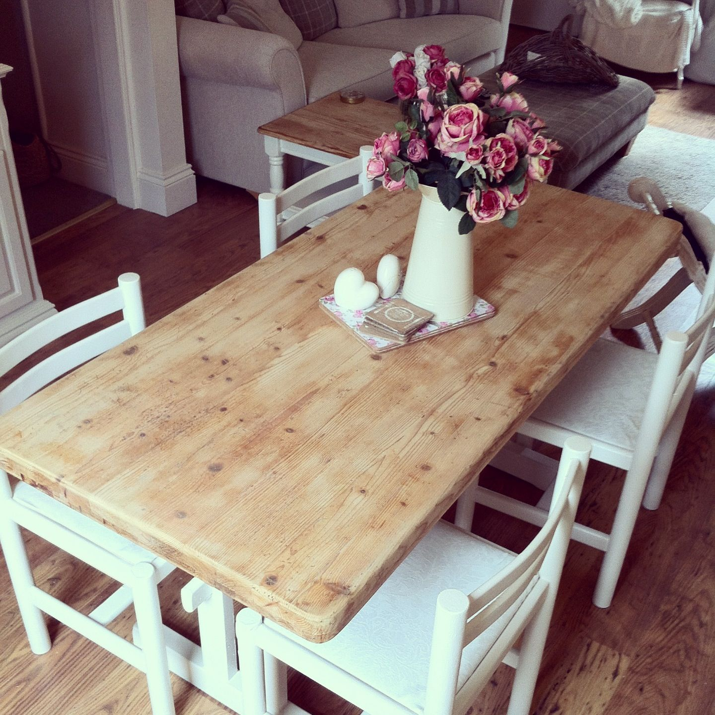 Shabby Chic Dining Table And Chairs For The Home Pinterest