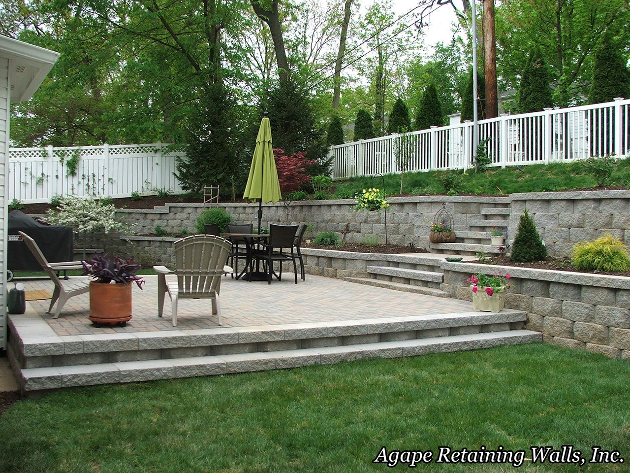 Image Result For How To Drain Water From Patio With Retaining Wall