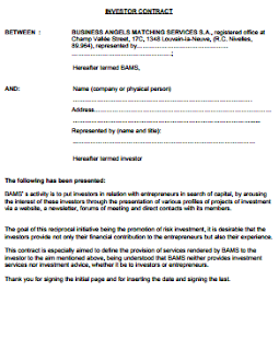 Investor Contract Template Free Guaranteed Investment