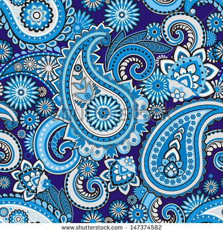 Seamless Pattern Based On Traditional Asian Elements Paisley Stock Custom Asian Patterns