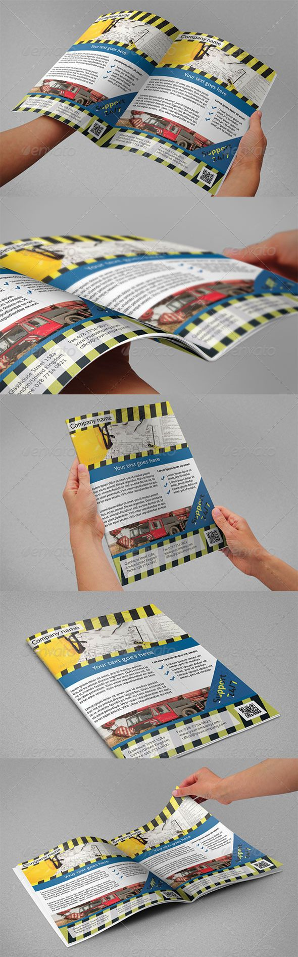 Construction Flyers GraphicRiver A4 flyer ideal for