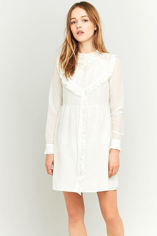 Manoush - Rüschenkleid in Weiß mit Herzausschnitt | Pinterest ...