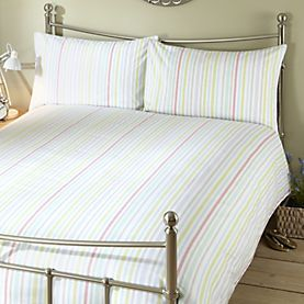 By Sainsbury S Memory Lane Stripe Print Duvet Cover Set