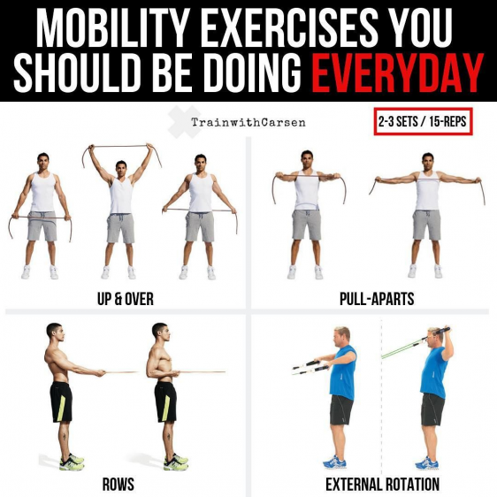 Mobility Exercises You Should Be Doing Everyday Maintaining Proper Posture Is Crucial To Achieving Any Goal In T In 2020 Mobility Exercises Exercise Posture Exercises
