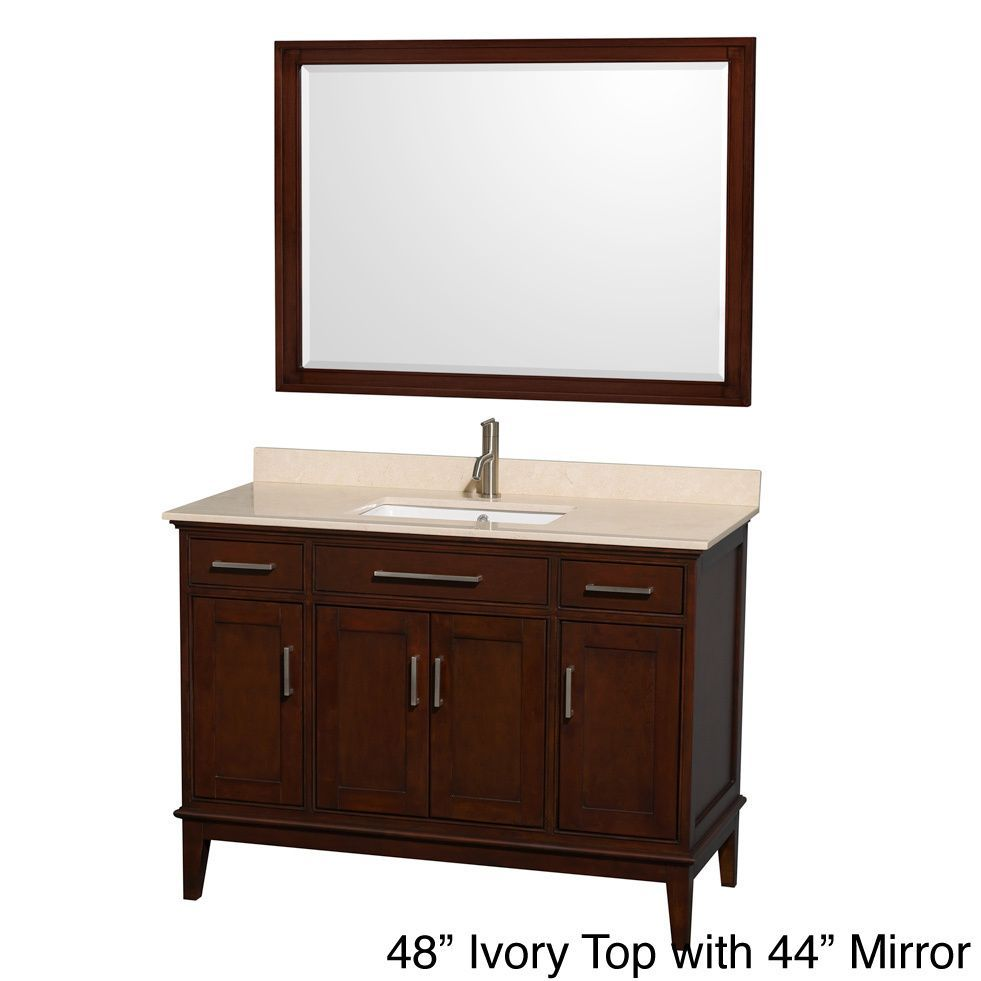 Wyndham Collection Hatton Dark Chestnut 48 Inch Single Vanity