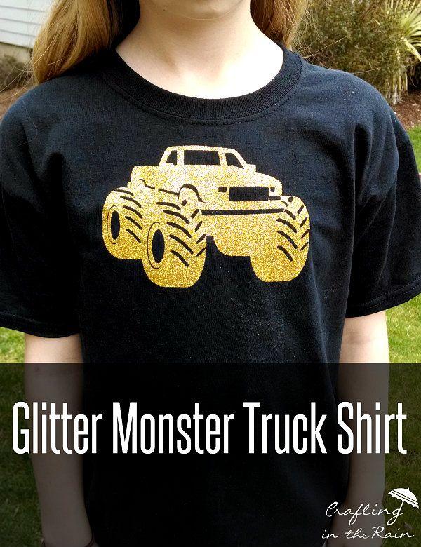 Glitter Monster Truck Shirts Truck Shirts Monster Trucks Truck Clothes