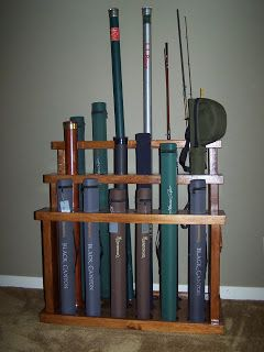 The Naturalist S Angle D I Y Fly Rod Rack Flyfishing