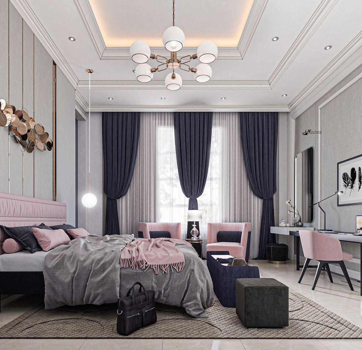Pink Bedroom On Behance Luxurious Bedrooms Modern Luxury Bedroom Bedroom Interior Pink modern luxury room