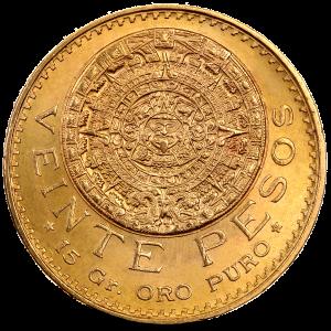 20 Mexican Pesos Azteca | Gold | 1917-1959 | Gold Coins