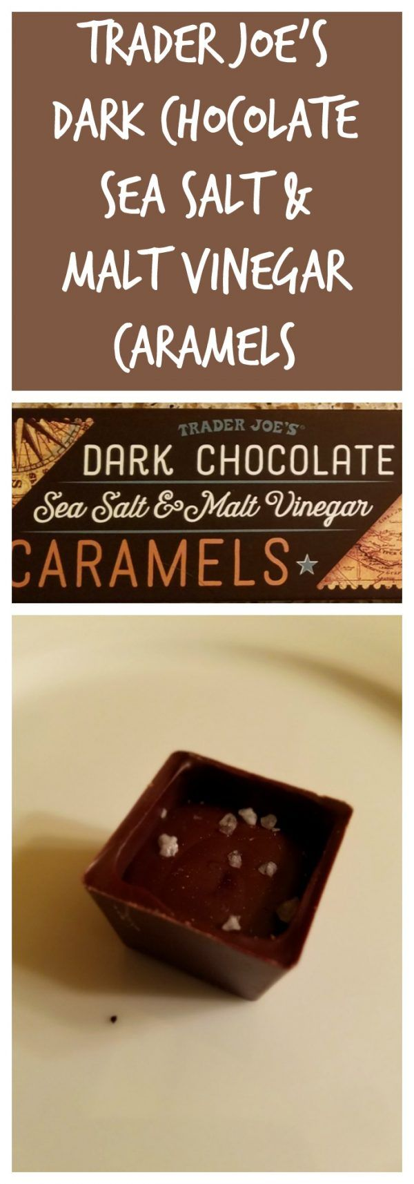 Trader Joe's Dark Chocolate Sea Salt and Malt Vinegar