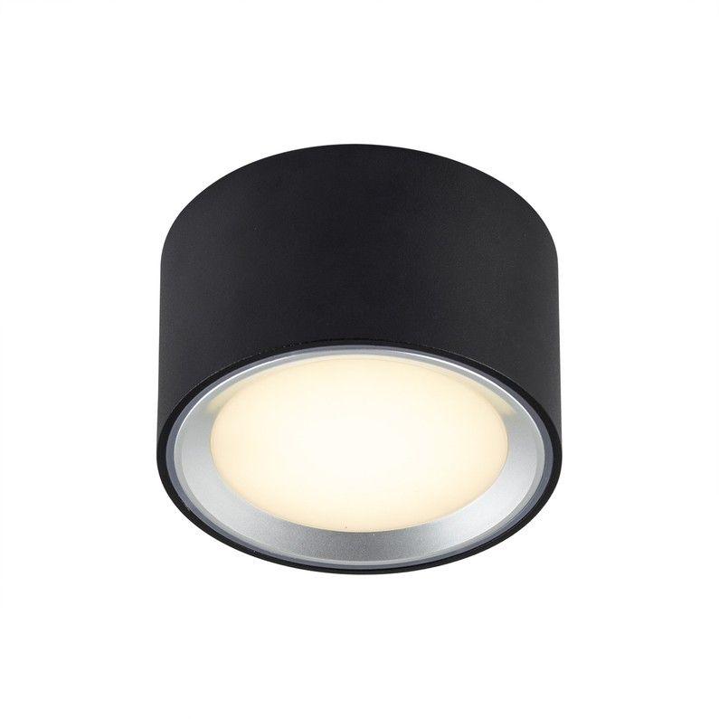 Kit 1 Spot A Encastrer Fixe Fallon Led Integree D6cm 2700k Rond Noir Spot Encastrable Led Spots