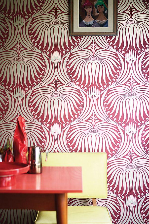 Farrow & Ball Lotus Wallpaper Lotus wallpaper, Metallic