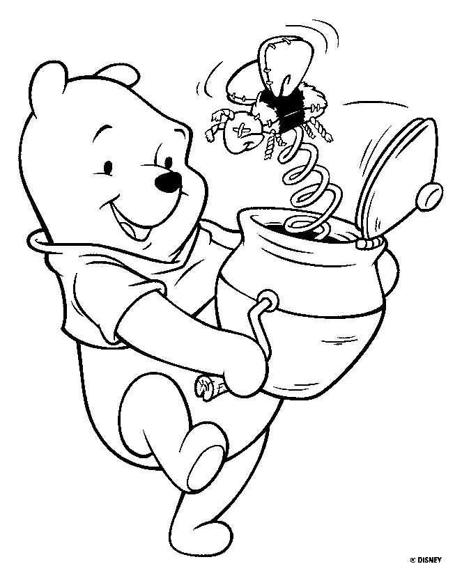 Pooh y bote de miel con sorpresa | dibujo vintage | Pinterest ...