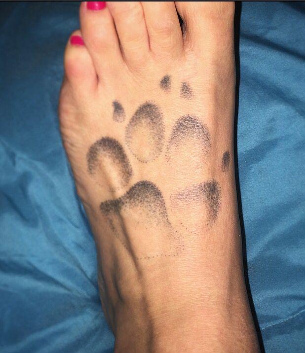 Dot Work Tattoo Shaded Tattoo Paw Print Great Dane Tattoo Great
