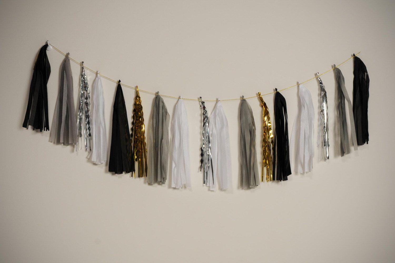 New Years Eve tassel garland by StephShivesStudio